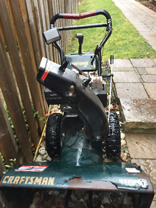 snowblower  30 inch craftsman