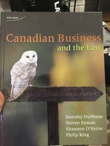 Canadian business and the law 5th edition