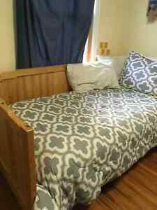 Twin bed/daybed and mattress for sale