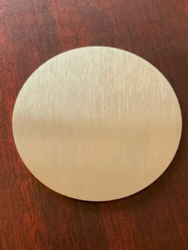"""1/16"""" Brushed Stainless Steel Disc x 6"""" Diameter, 16ga SS, Round, Disc, #4"""