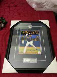 Hand-signed Toronto Blue Jays Jose Bautista with Pin and Plate