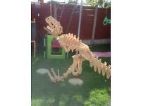 Wooden 3D dinosaur