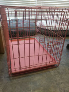 Medium-Large sized pink wire dog crate