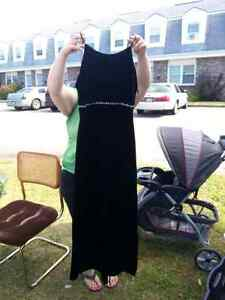 Black Velvet Dress with Rhinestones