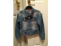 Girls denim jacket age 7-8 years from NEXT excellent condition