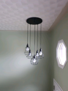 Black pendant 5 light fixture