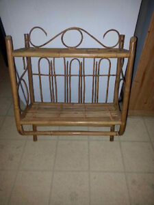 WICKER BATHROOM SHELF OR FOR ANY WALL IN HOUSE
