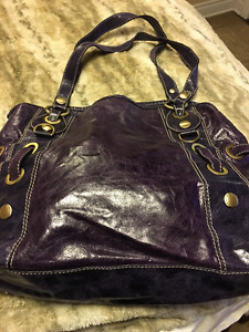 Nuovedive Leather Bag.  Made in Italy. Purple.  Brand New