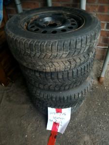 winter tires 225/60/16 on rims