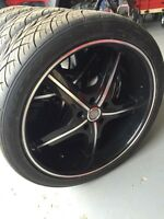 "22"" U2 wheels with brand new Nitto SN420 tires"