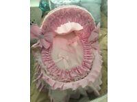 Hand made baby girls pink crib