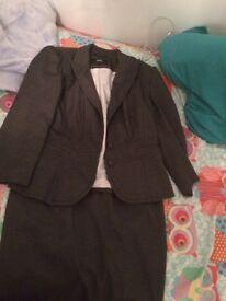 Women's M&S grey suit - size 12