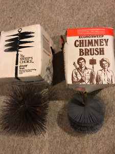 2 New In the Original Boxes Chimney Sweep Brushes