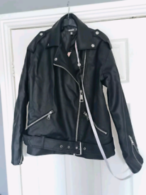 Missguided over sized Biker Jacket Size 4