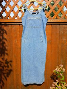 Denim overall dress size 6