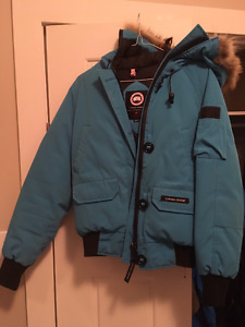 Canada Goose ladies blue bomber jacket