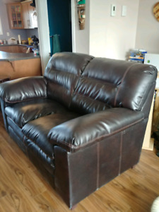 Faux Leather Loveseat - Great Condition