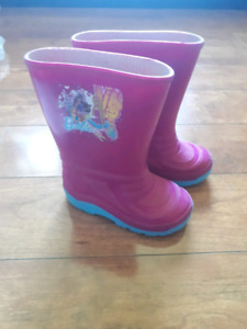 PRICE DROP Barbie girls rubber boots