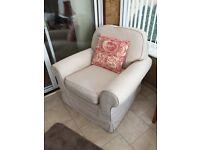 Cream Armchair, good condition
