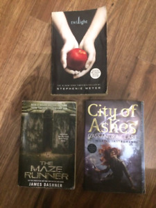 Twilight, Maze Runner and City of Ashes