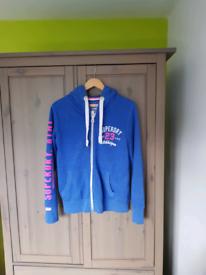 SUPERDRY - Blue Ladies Hoodie XL