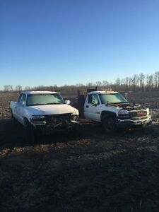Two Duramax 4x4 trucks 3800 for both