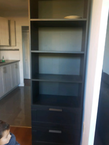 BLACK BOOKCASE ONLY $40