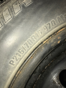 Uniroyal Tiger Paw Touring P215/70R15 97T BSW Tires With Rims