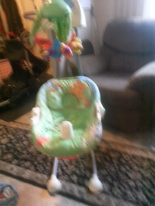 Stroller with matching car seat & base a baby swing & playpen