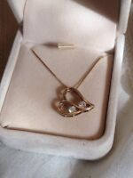 10k Ben Moss Pendant and 14k Necklace