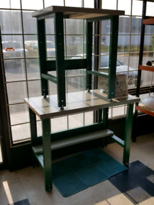 Basic or Custom Workbenches - painted steel tops + lev. glides