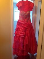 Size 16 pink prom dress