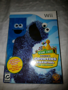 SEALED WII SESAME ST. COOKIE'S COUNTING CARNIVAL