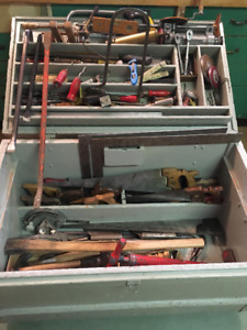 Vintage Job / Storage Tool Chest as strong as any  Greenlee box