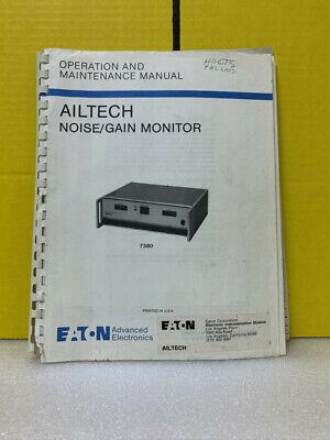 Eaton Ailtech Noisegain Monitor Operation And Maintenance Manual