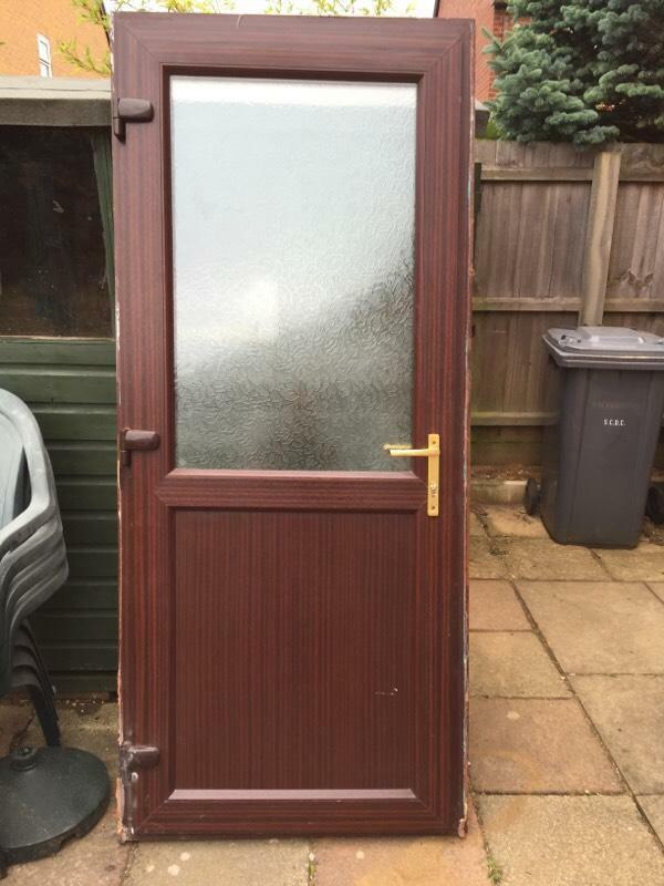 Upvc back door in kesgrave suffolk gumtree for Brown upvc patio doors