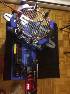 Badminton rackets stringing service