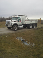 Tandem gravel truck services for hire
