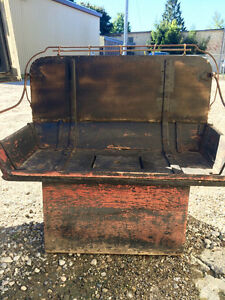 Vintage buggy seat bench with storage