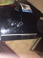 PS3 500gb with controller cords and 4 games