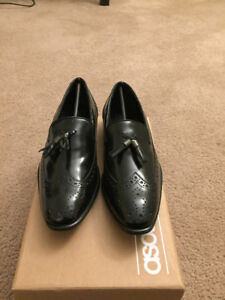ASOS | Black Leather Loafers | Size 8