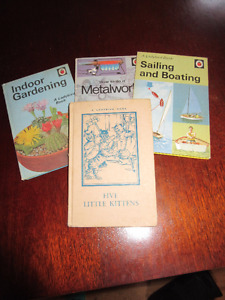 Four Vintage Ladybird Books - 5 Little kittens,Sailing etc......
