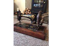 Vintage singer sewing machine retro Jones antique