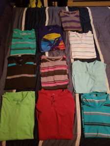 6 carbon and 4 American eagle t shirts