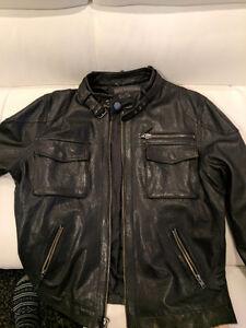 True Religion Lamb Skin Leather Jacket.