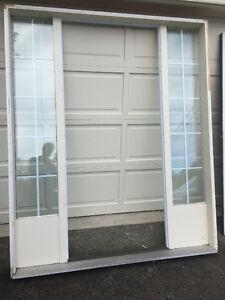 """Steel door 3' X 6'8"""" and door Jamb with sidelights 69"""" X 82 3/4"""""""