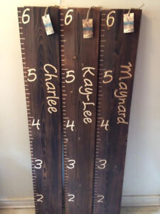 Rustic, Carved Growth Charts