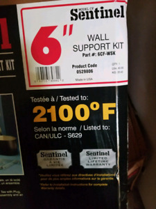 Sentinel 6 inch wall support kit