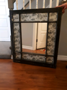 Old window upcycled to a mirror.
