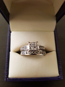Wedding ring and Engagement ring set.
